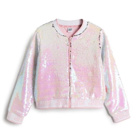 e5d9c3dcb ✨ JoJo Nickelodeon Siwa Flip Sequin Bomber Jacket Boutique